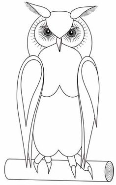 This really is a super digi to colour! Owl Coloring Pages, Cat Coloring Page, Coloring Books, Owl Patterns, Applique Patterns, Applique Quilts, Owl Crafts, Paper Crafts, Bird Template