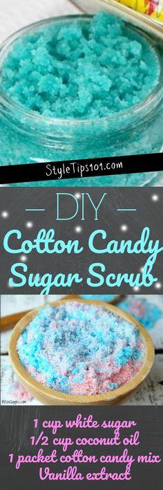 DIY Cotton Candy Sugar Scrub