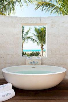 awesome 39 Amazing Coastal Retreat Bathroom Inspiration https://matchness.com/2017/12/22/39-amazing-coastal-retreat-bathroom-inspiration/