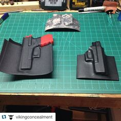 Nice work!  #Repost @vikingconcealment with @repostapp. ・・・ Few pieces tonight off the vacuum press from @hdindustrialdesign using there curved jig. Awesome products and so fast. #kydex #kydexholster #glock #glock19 #magholder #gunporn #gunholster  #kydex