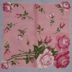 Pink roses hankie