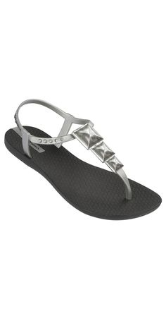 fe1c21bc7e7d4 Ipanema Sandals - style Maya (Black Silver) - fashion flip flop can double  as a sandal.