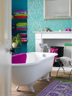 colorful bathroom idea