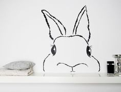 webcam - The World`s # 1 Most Visited Video Chat - Wall Decals – Wall Stickers / Wall Decals / Hasi – a unique product by Eulenschnitt on DaWanda - Chalkboard Drawings, Chalkboard Lettering, Chalkboard Designs, Diy Kids Room, Lapin Art, Bunny Art, Window Art, Chalk Art, Art Boards