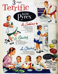 Pyrex...Ilove these old ads