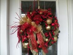 Christmas Door Wreath Christmas Wreath by KathysWreathShop on Etsy, $64.99 by jacquelyn