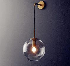 Nordic Modern LED Wall Lamp Glass Ball Bathroom Mirror Beside American Retro Wall Light Sconce Wandlamp Aplique Murale Living Room Lighting, Home Lighting, Modern Lighting, Lighting Design, Industrial Lighting, Modern Wall Lights, Kitchen Lighting, Lamp Design, Lighting Stores