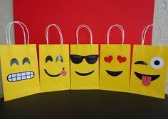 Emojis Favor Bags - Emojis Birthday Party/ Fiesta - Emoji Goody Bags  https://www.etsy.com/listing/400558057/emoji-favor-bags-instant-download-emojis