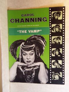 """Carol Channing Pre-Broadway  Theatre Souvenir Program Post-Name Change from """"DELILAH"""" to """"THE VAMP"""" for Broadway run with Steve Reeves 1955"""