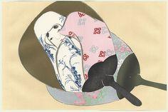 Uchiwa (Round Fans) by Kamisaka Sekka (1866 - 1942)