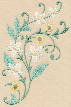 Japanese Embroidery, Crewel Embroidery, Vintage Embroidery, Embroidery Needles, Handkerchief Embroidery, Embroidery Tattoo, Ribbon Embroidery, Flower Embroidery Designs, Hand Embroidery Patterns