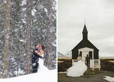 Lake Tahoe Winter Wedding Inspiration | Left Image: Wedding Photography by @Theilen Photography via TahoeUnveiled.com #LakeTahoeWeddings