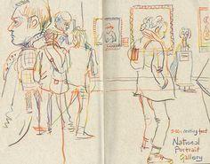 Travel Sketchbook, Sketchbook Drawings, Artist Sketchbook, Sketchbook Pages, Drawing Sketches, Art Drawings, Sketchbook Ideas, Life Drawing, Kunstjournal Inspiration