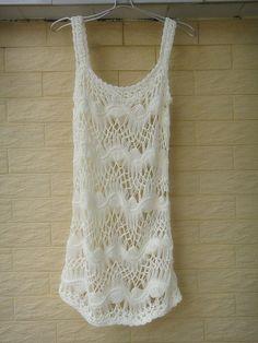 Crochet Vest White Dressy Top Bohemian Clothing Cute Women Summer Tops