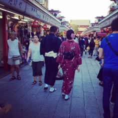 We saw lots of #kimonos in #Japan - and we couldn't resist trying them on ourselves #travel #Tokyo