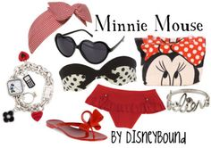 or Minnie at the beach- even better! Minnie Mouse by disneybound Disney Bound Outfits, Disney Inspired Outfits, Disney Style, Disney Love, Disney Ideas, Themed Outfits, Minnie Mouse Swimsuit, Mickey Mouse, Disney Artwork