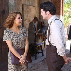 Emilia y Cristobal en El secreto de Puente Viejo