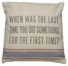 A good rule for life -this pillow says it all!