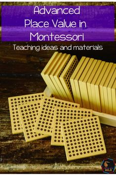 Our Montessori equipment is great for teaching place value. In Montessori we start quite early with 'big' numbers for example it is not uncommon f Montessori Practical Life, Montessori Elementary, Montessori Education, Montessori Materials, Montessori Activities, Teaching Place Values, Math Strategies, Counting Activities