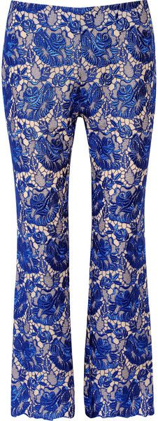 STELLA MCCARTNEY ..all you need is love Guipure Embroidered Lace and Crepe Pants - Lyst