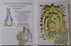 Inside the Card - 3D Water Colouring using XCut Build a Scene Woodland Dies & Peter Rabbit Stamps