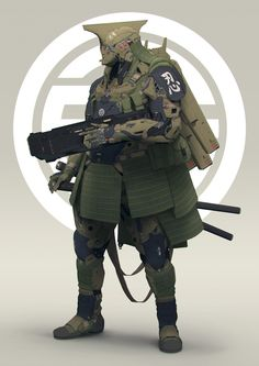 Shotgun Guard by Filippo Ubertino Robot Concept Art, Armor Concept, Character Concept, Character Art, Mode Cyberpunk, Cyberpunk 2077, Combat Armor, Gundam, Sci Fi Armor