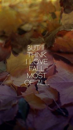 But I think I love Fall....