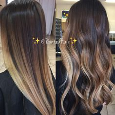 """10.9k Likes, 81 Comments - Patricia Nikole (@paintedhair) on Instagram: """"✨Pearl Beige and Brunette toned ✨Painted Hair✨ Straight and curling iron waved. Which is your…"""""""