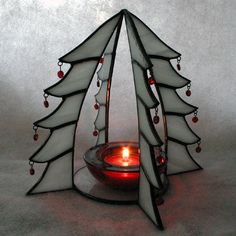 Christmas Tree Candle Holder G1181C by SierraCreations on Etsy