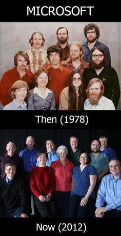 Microsoft then (1978) Now (2012)