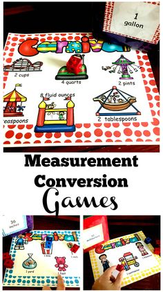 Three Measurement Conversion Games to Practice Liquid, Length, and Metric Equivalences