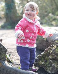 This organic cotton Snuggle Fleece will keep the chill out and the cuddles coming. It's reversible and ultra-cosy with on side being Frugi's organic cotton snuggly fleece fabric and the other designed with a raspberry polka dot. The popper fastening at the neck makes it easy to pull on and off, but best of all, it's machine washable. Perfect! Made with Organic Cotton. Perfect for little walks along the seafront and autumn adventures.