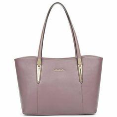 baee87b6 Bostanten Cuero Genuino Para Mujer Bolsa de Hombro Bolso de Compra Bolsa de  #Bostanten Rosa