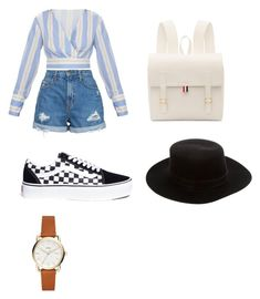 """Untitled #9"" by maria-daria-i on Polyvore featuring Nobody Denim, Vans, Thom Browne and Janessa Leone"