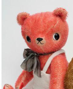 mohair teddy bear handmade by Fox & Owl! Handmade Clothes, Handmade Toys, Plush Dolls, Doll Toys, Christmas Teddy Bear, How To Make Toys, Cute Teddy Bears, Bear Doll, Soft Sculpture