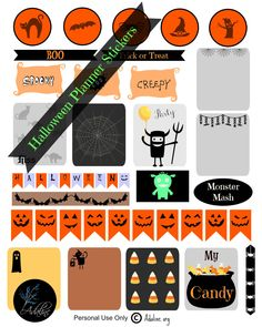 Spookify your planner with some Halloween planner stickers for your Erin Condren life planner or any other planners as well. free printable file