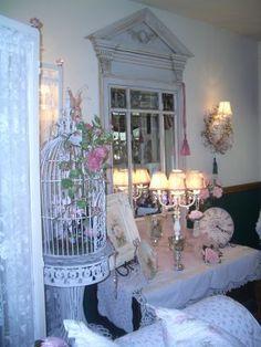 Romantic Shabby Chic Living Room by Mo's Cottage, via Flickr~via Lillian Minne