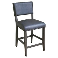 """This looks so comfy for morning coffee and gazing out that window! Wish the blue was lighter… --Open Back 24"""" Counter Stool Linen - Light Grey - Threshold™ : Target"""