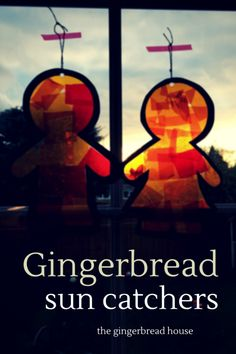 Gingerbread men sun catcher tutorial
