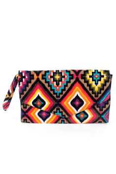 Your Place or Mayan Clutch in Multicolor