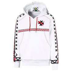 PRODUCT STORYFor her debut collection with PUMA, JAHNKOY brings her signature aesthetic to streetwear silhouettes, reimagining them with artisanal detailing and vibrant patterns. Russian traditional ornaments and folk references remind us that clo. Logo Signature, Signature Design, Iron Accessories, Puma Classic, Cat Logo, Young Designers, White Hoodie, Print Logo, Sport Fashion