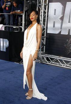 Rihanna & Brooklyn Decker Show A Little Leg At 'Battleship' Premiere - Starpulse.com