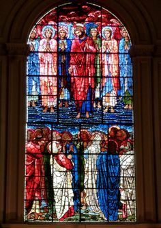 Birmingham Cathedral windows by Edward Burne-Jones via William Morris' workshop are being restored to their full glory, in the pre-Raphaelite's home town. https://www.divinebeautyproject.com/