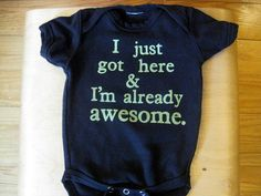 Wish I'd had this for Henry. He was such an awesome baby!