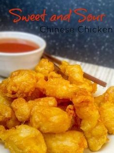 Sweet and Sour Chinese Chicken We are the biggest lovers of Chinese takeout ever (that may be a overstatment but I can't help it). Our favorite takeout place was under construction for like Chinese Chicken Recipes, Asian Recipes, Homemade Chinese Food, Chinese Chicken Dishes, Healthy Chinese, Asian Chicken, Orange Chicken, Asian Foods, Sweet N Sour Chicken
