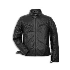 Ducati Urban Leather Jacket-Black Perforated picture