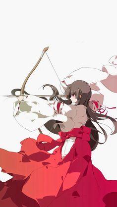 Anime Girl With Arow Anime Madchen Todesmeldung Zeichnungen Manga Girl Manga Zeichnung