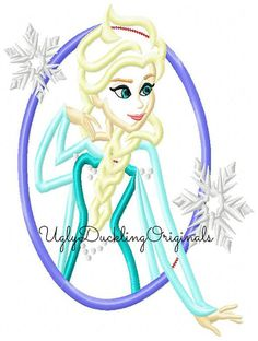 Frozen Princess Elsa Cameo 2 Versions Machine Embroidery Applique Design Digital Download