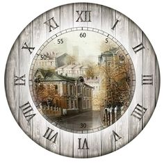 Art Vintage, Decoupage Vintage, Vintage Walls, Clock Craft, Diy Clock, Clock Ideas, Clock Face Printable, Printable Paper, Wall Clock Wooden
