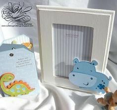 Passionately Artistic: Baby Frame, Cuttlebug Custom Baby Room Decor